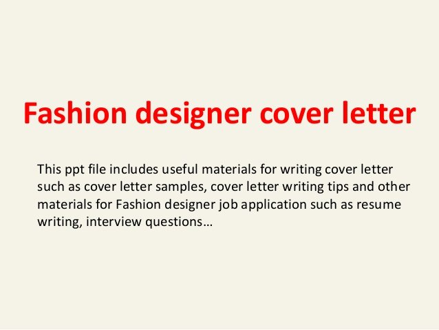 Fashion Design Cover Letter Best Of Fashion Designer Cover Letter
