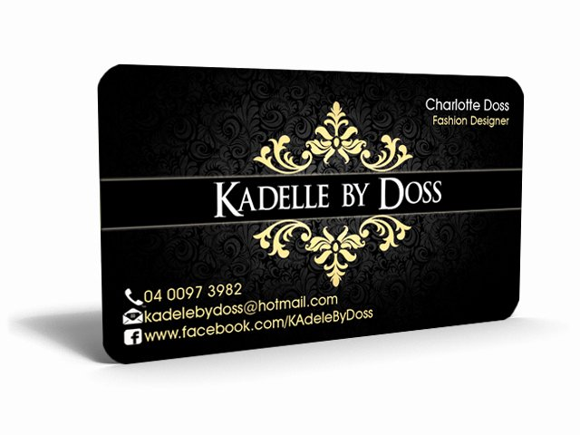 Fashion Designer Business Card Fresh Fashion Label Startup Business Card Design