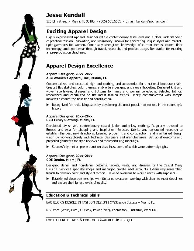 Fashion Designer Resume Sample Beautiful Fashion Designer Resume Templates themysticwindow