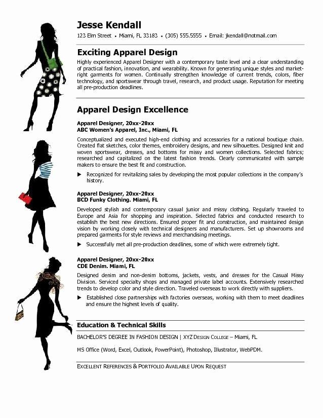 Fashion Designer Resume Sample Beautiful Fashion Designer Resume Templates themysticwindow