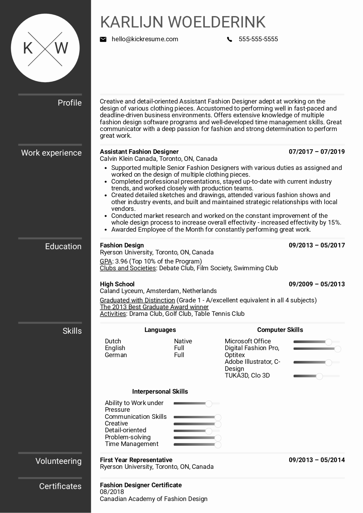Fashion Designer Resume Sample Beautiful Resume Examples by Real People assistant Fashion Designer