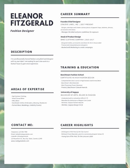 Fashion Designer Resume Sample Lovely Dark Purple Woman Customer Service Resume