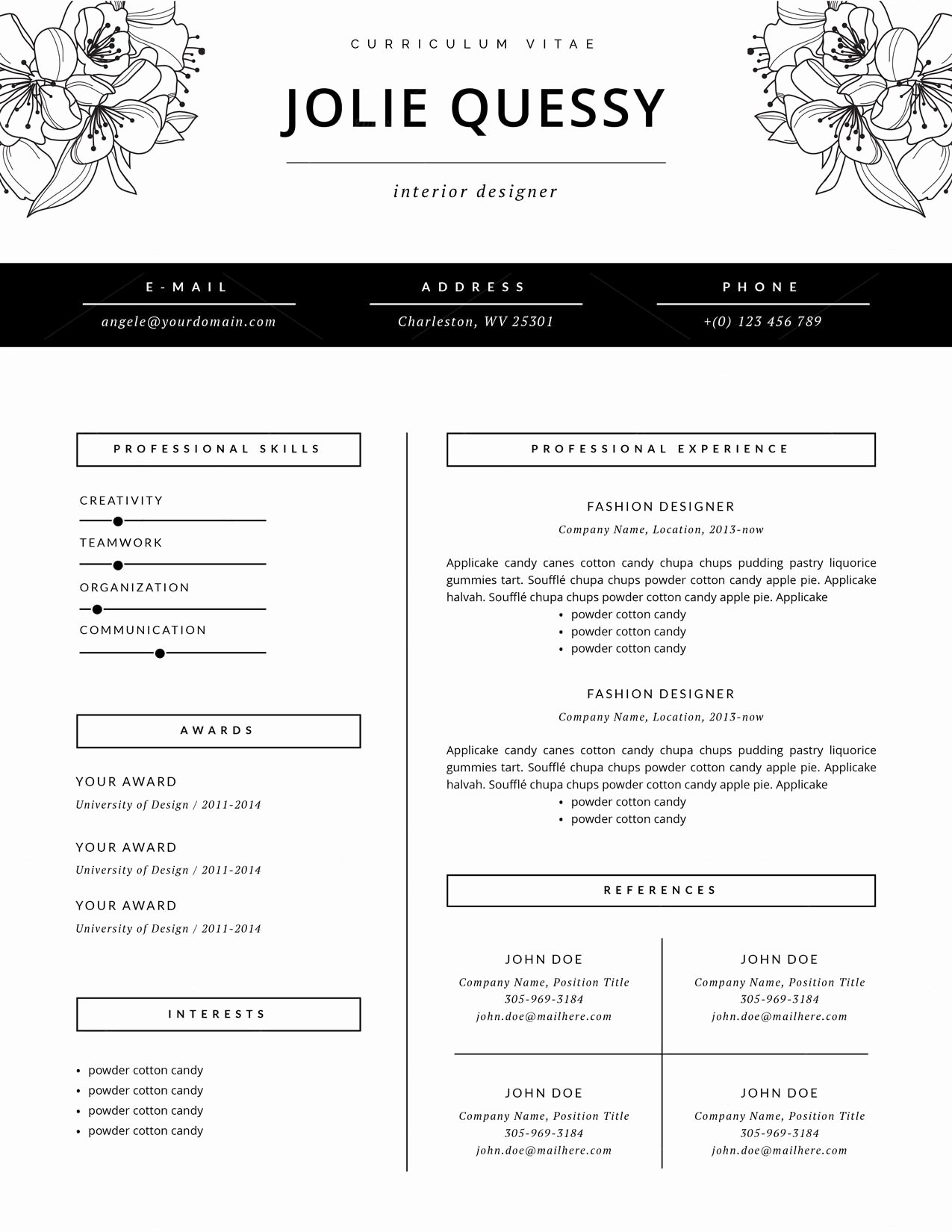Fashion Designer Resume Sample New Fashion Resume Template