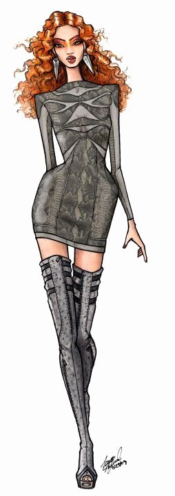Fashion Designing Sketches Of Models Fresh Dereon Mini Dress Fashion Illustration Pinterest