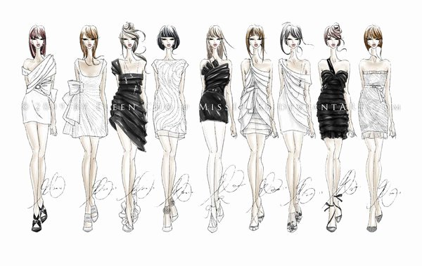 Fashion Designing Sketches Of Models Lovely 55 Inspiring Fashion Sketches & Illustrations