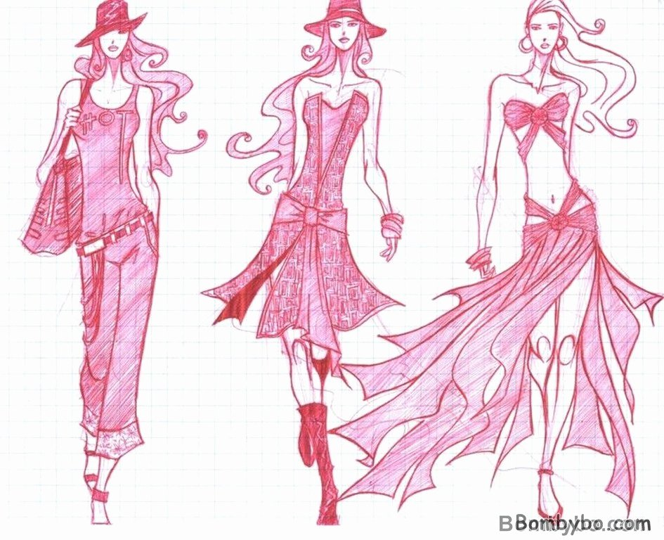 Fashion Designing Sketches Of Models New Wel E to Fun2shh World Latest Best Fashion Sketches Wallpapers