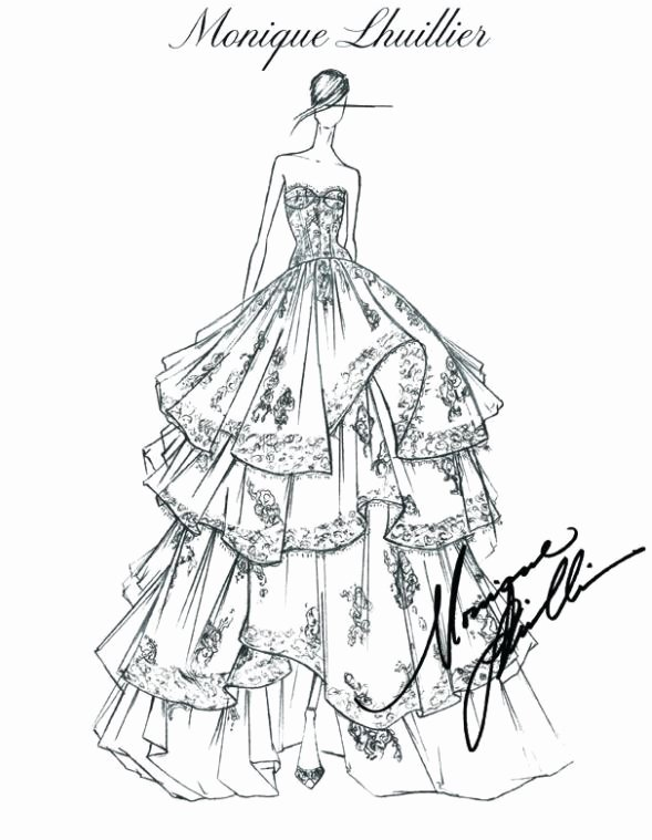 Fashion Designing Sketches Of Models Unique Fashion Design Sketches by World S top Fashion Designers