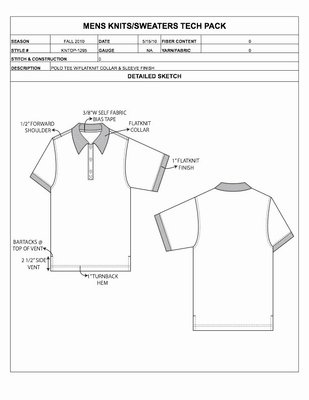 Fashion Line Sheet Template Elegant Designers Nexus How to Spec A Garment Ebook & Apparel