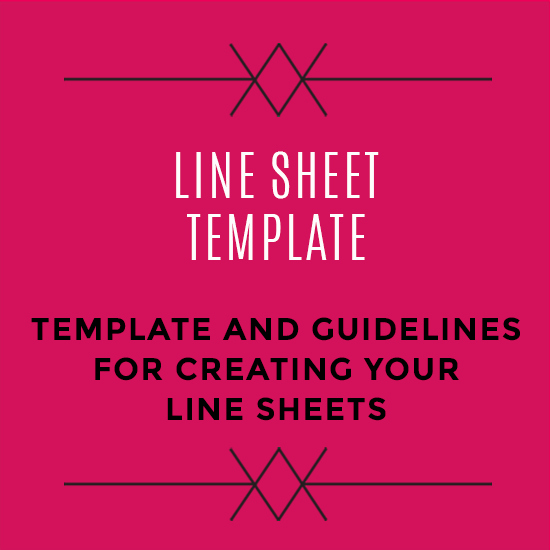 Fashion Line Sheet Template Elegant wholesale Line Sheet Template