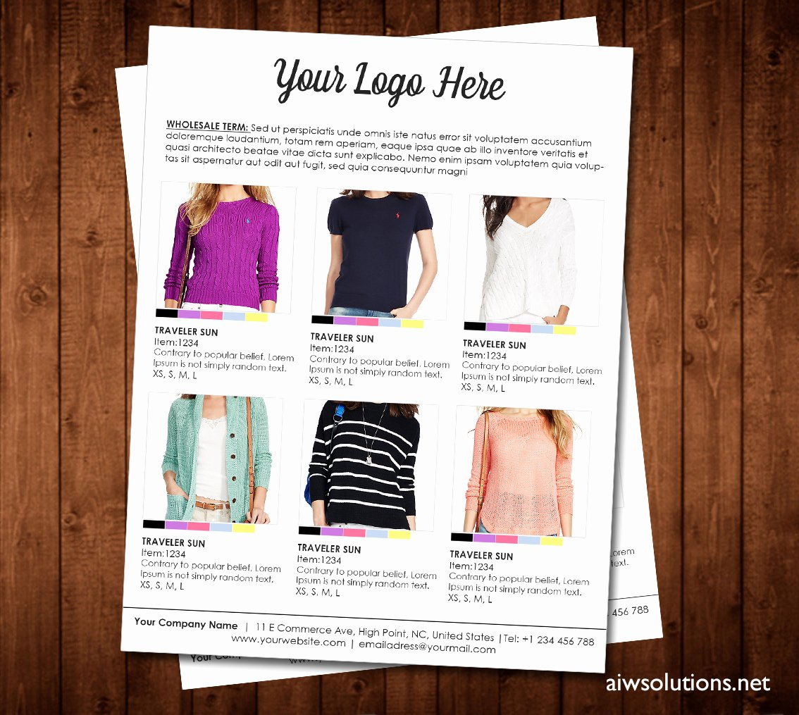 Fashion Line Sheet Template Lovely Price Sheet order form Template Cover order form