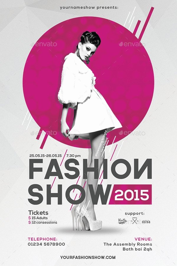 Fashion Show Flyer Template Beautiful Fashion Show Flyer by Vorsa