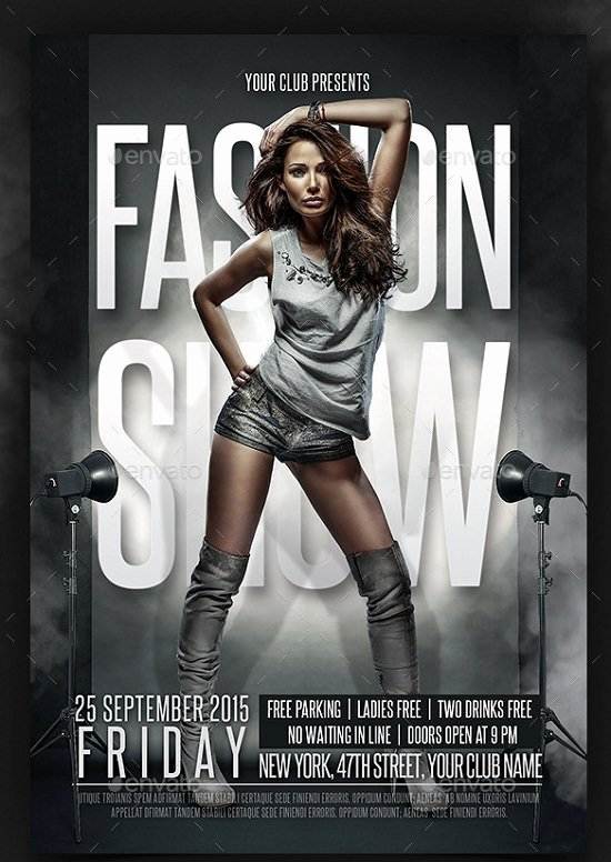 Fashion Show Flyer Template Best Of 30 Best Fashion Flyer Templates