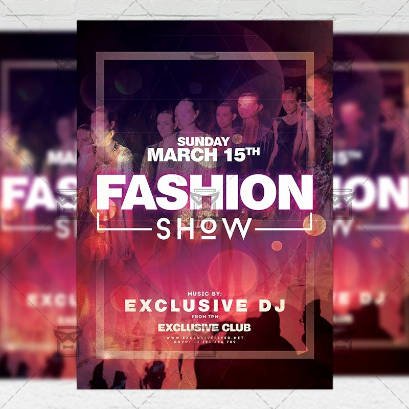 Fashion Show Flyer Template Elegant Fashion Week Show Flyer – Club A5 Template Exclsiveflyer