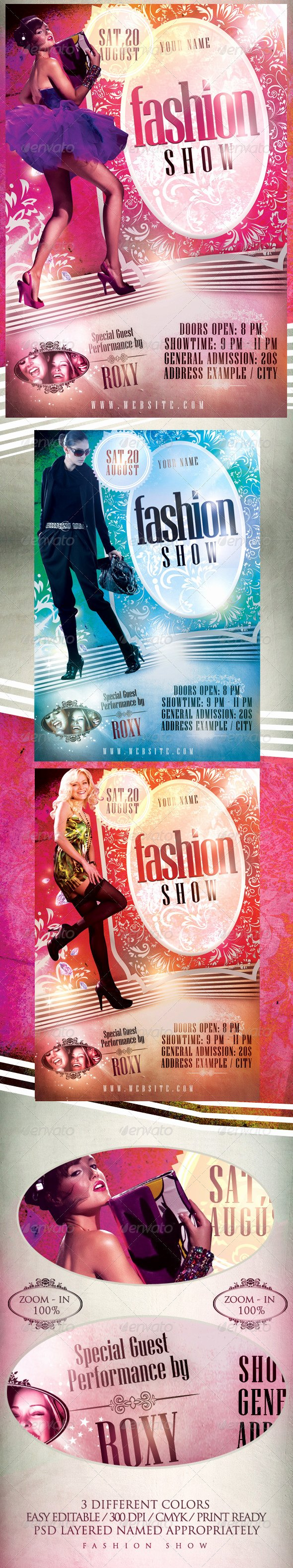 Fashion Show Flyer Template Free Awesome Fashion Show Flyer Template On Behance