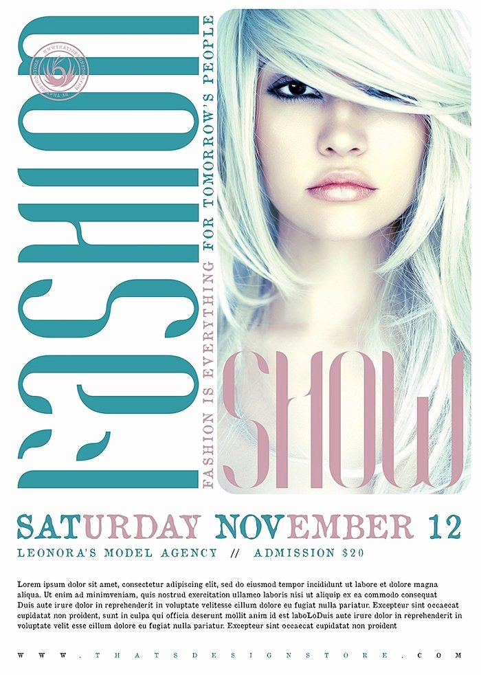 Fashion Show Flyer Template Free Beautiful Fashion Show Flyer Template V2