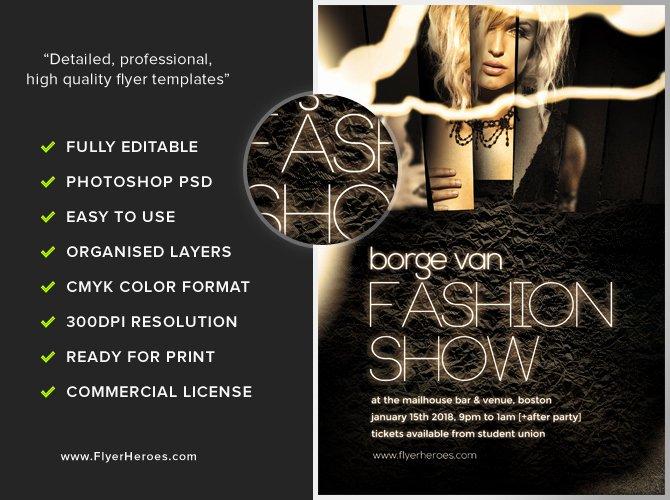Fashion Show Flyer Template Free Elegant Fashion Show Flyer Template Flyerheroes
