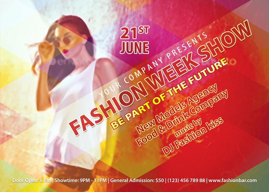 Fashion Show Flyer Template Free Fresh Fashion Week Show Flyer Template
