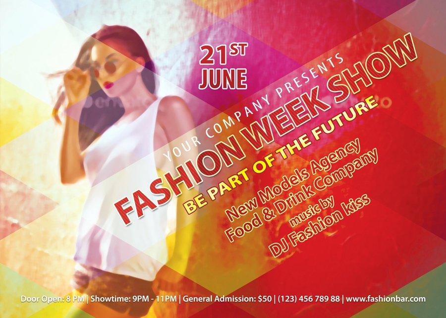 Fashion Show Flyer Template Free Fresh Fashion Week Show Flyer Template