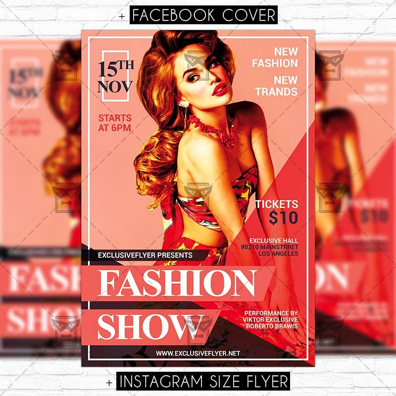 Fashion Show Flyer Template Free Inspirational Fashion Show – Premium Psd Flyer Template Exclsiveflyer
