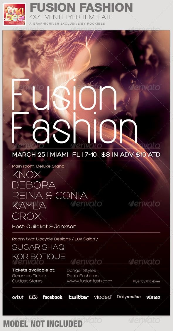 Fashion Show Flyer Template Free Lovely This Fusion Fashion event Flyer Template is sold Exclusively On Graphicriver It Can Be Used for