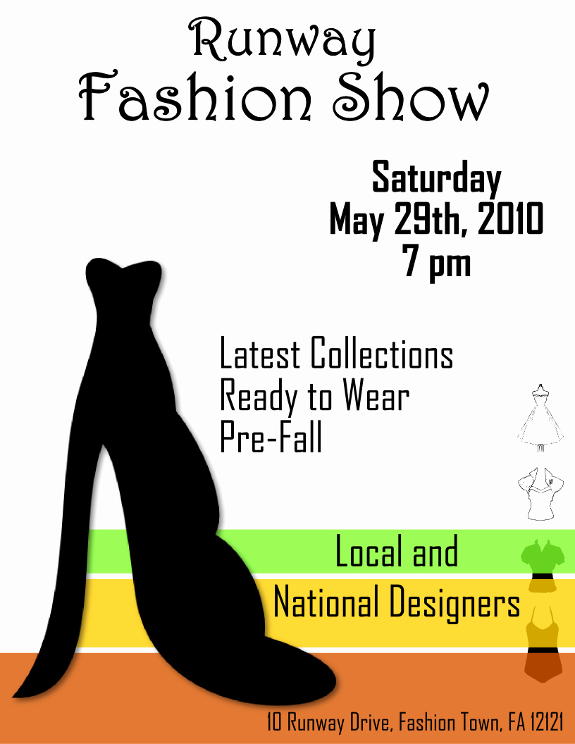 Fashion Show Flyer Template Free Luxury Fashion Show Flyer Template 2 Free View R Image