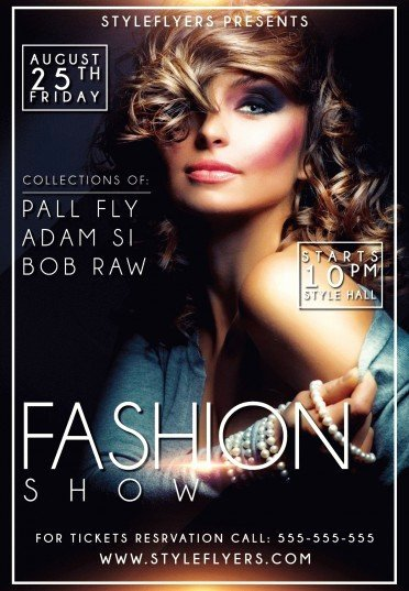 Fashion Show Flyer Template Free Luxury Fashion Show Psd Flyer Template 9555 Styleflyers
