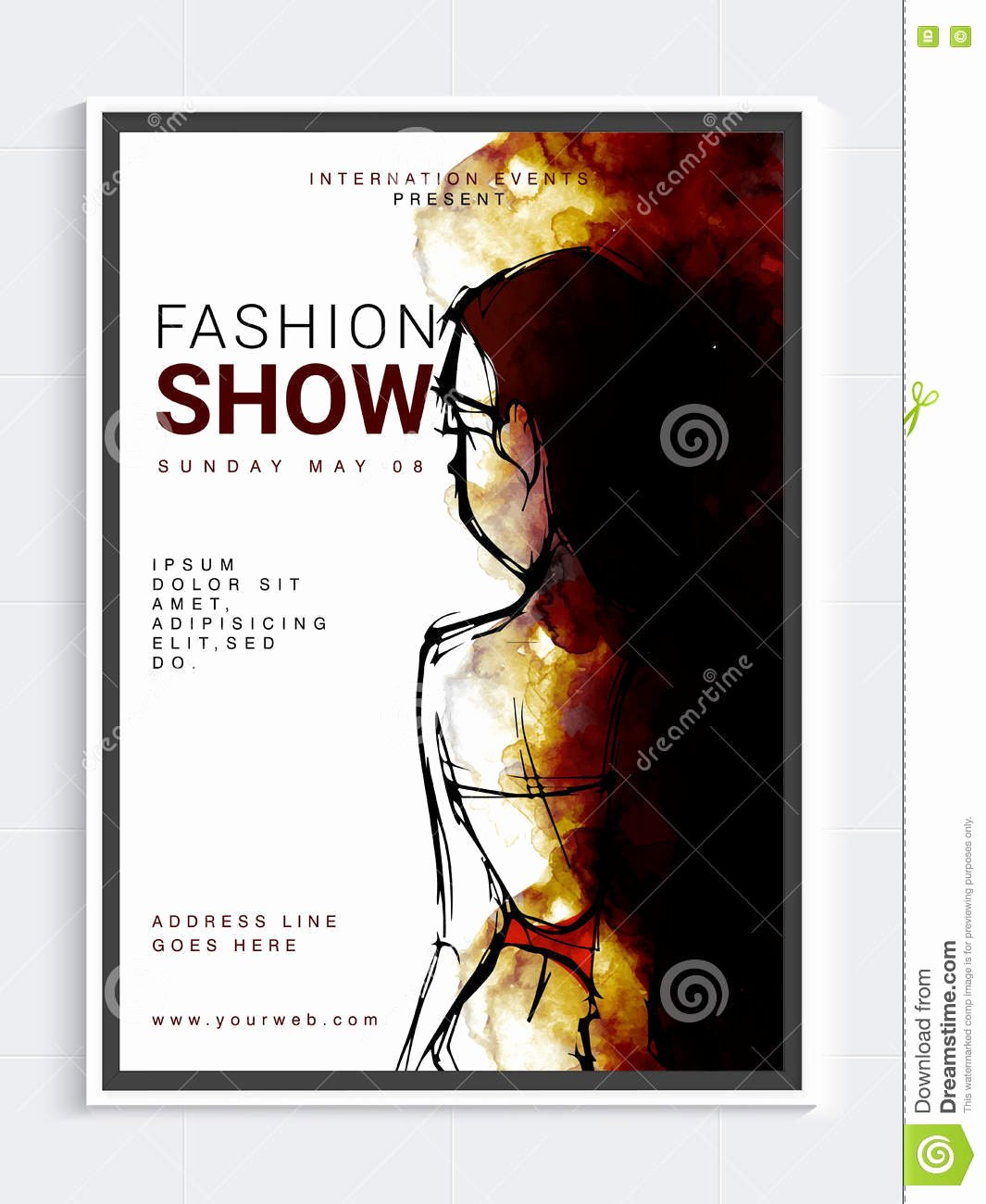 Fashion Show Flyer Template Free New Fashion Show Template Banner Flyer Design Stock Illustration Illustration Of Female