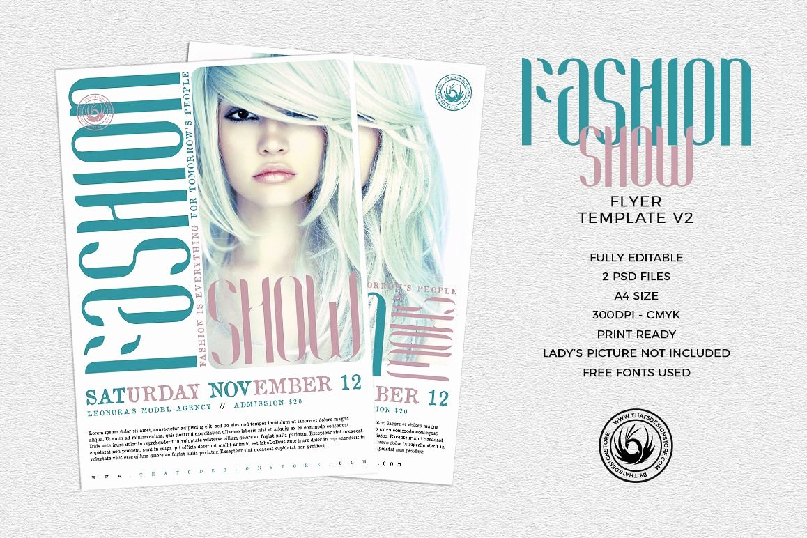 Fashion Show Flyer Template Fresh Fashion Show Flyer Template V2