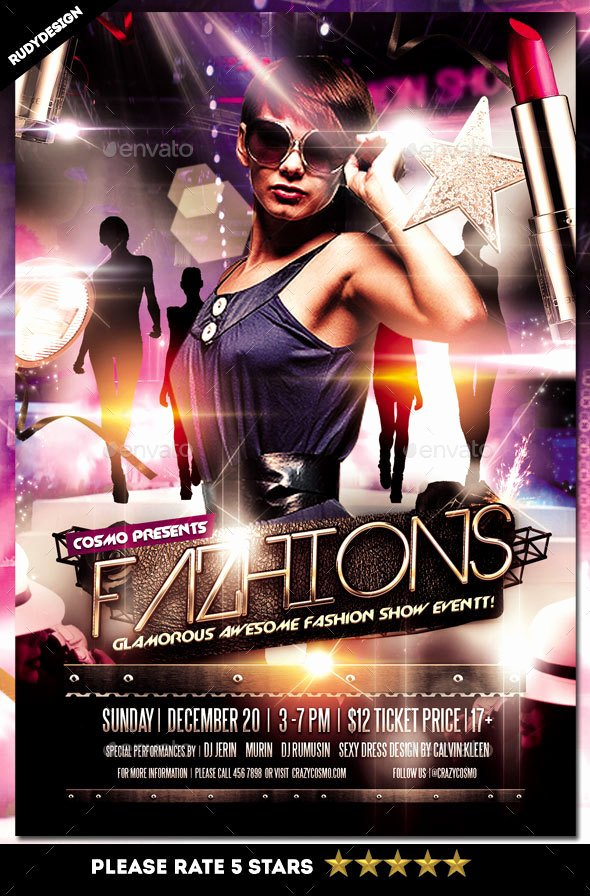 Fashion Show Flyer Template Inspirational Fashion Show Flyer by Rudydesign