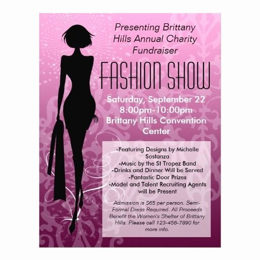 Fashion Show Flyer Template Inspirational Fashion Show Flyer Pink Silhouette Swirl 21 5 Cm X 28 Cm Flyer