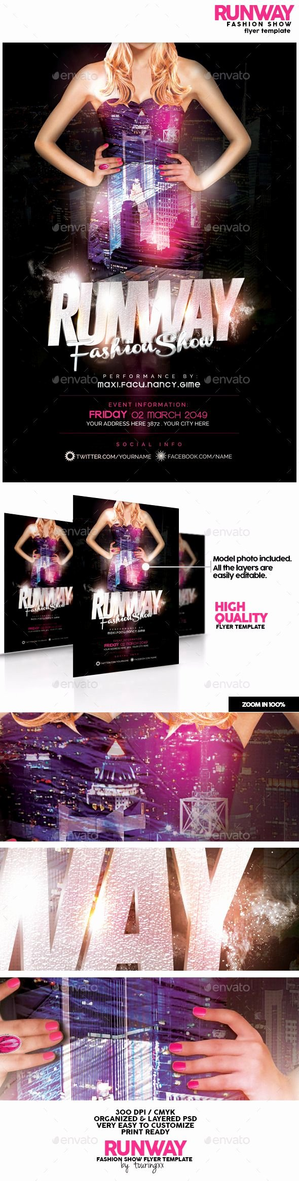 Fashion Show Flyer Template Luxury Runway Fashion Show Flyer Template Fashion Flyers