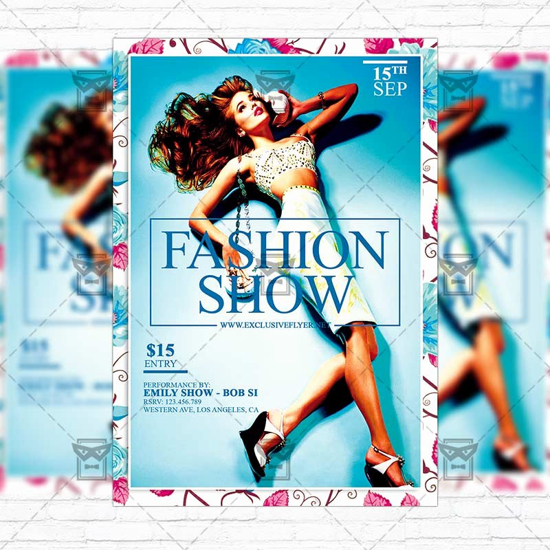 Fashion Show Flyer Template New Fashion Show – Premium Flyer Template Instagram Size Flyer Exclsiveflyer