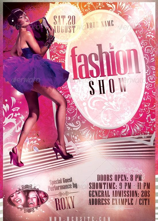 Fashion Show Flyers Template Free Beautiful 30 Best Fashion Flyer Templates