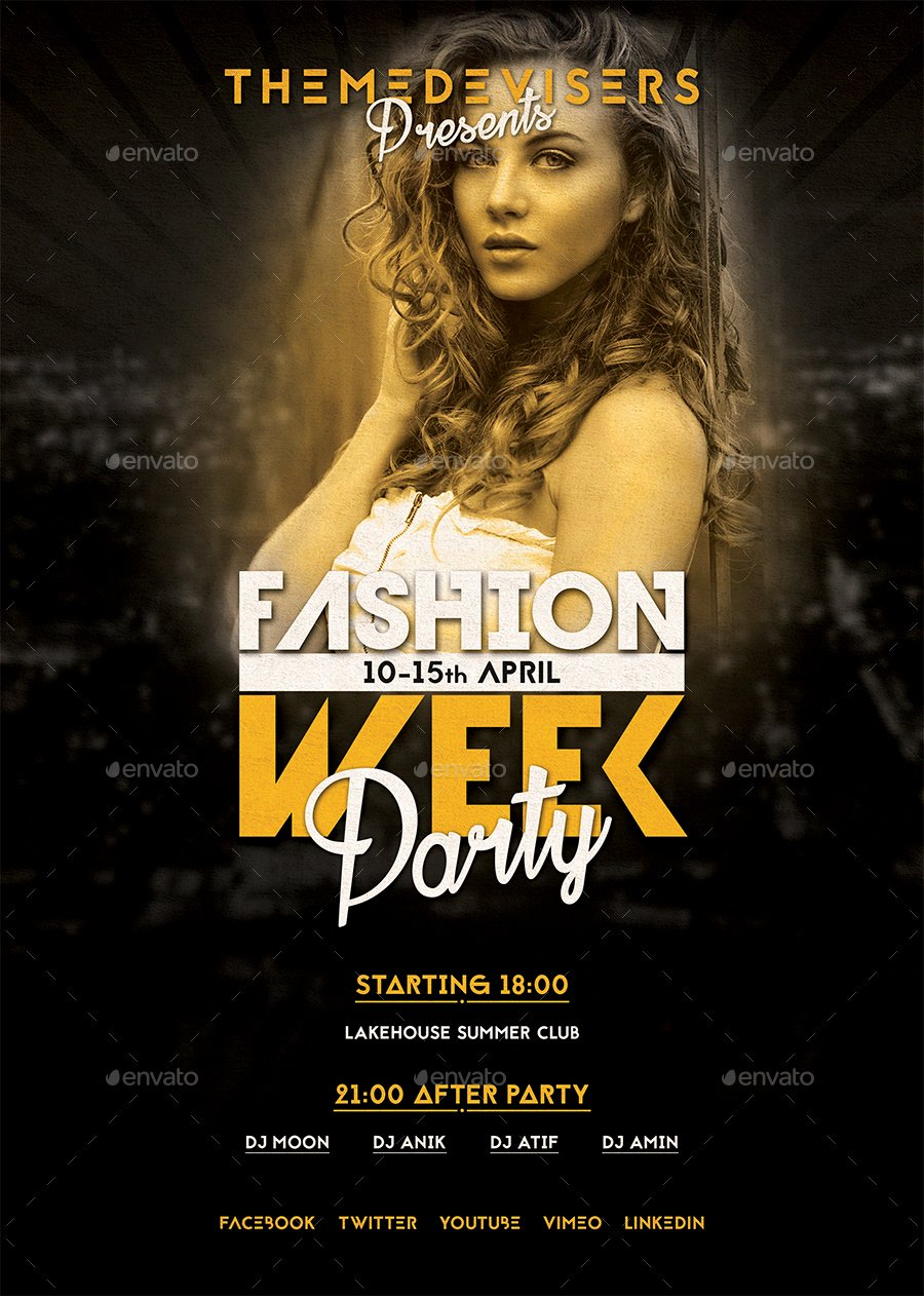 Fashion Show Flyers Template Free Beautiful Fashion Show Flyer by themedevisers