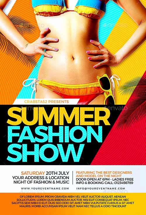 Fashion Show Flyers Template Free Beautiful Ffflyer
