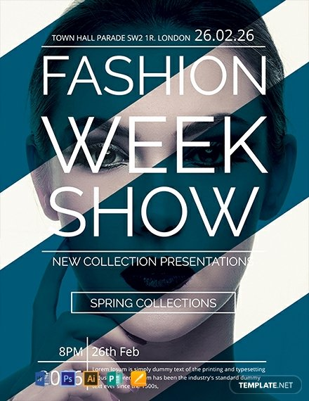 Fashion Show Flyers Template Free Beautiful Free Fashion Week Show Flyer Template Download 1578 Flyers In Psd Illustrator Word