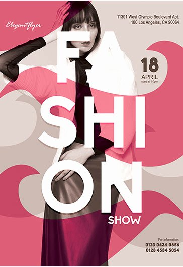 Fashion Show Flyers Template Free Fresh Fashion Show – Flyer Psd Template – by Elegantflyer