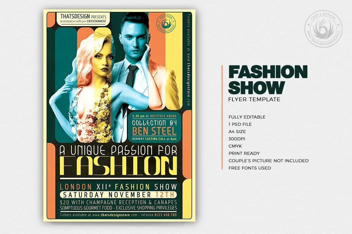 Fashion Show Flyers Template Free Fresh Fashion Show Flyer Template