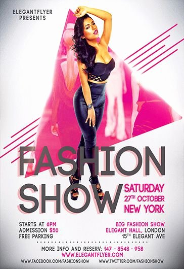 Fashion Show Flyers Template Free Lovely Free Psd Flyer Templates for Shop by Elegantflyer