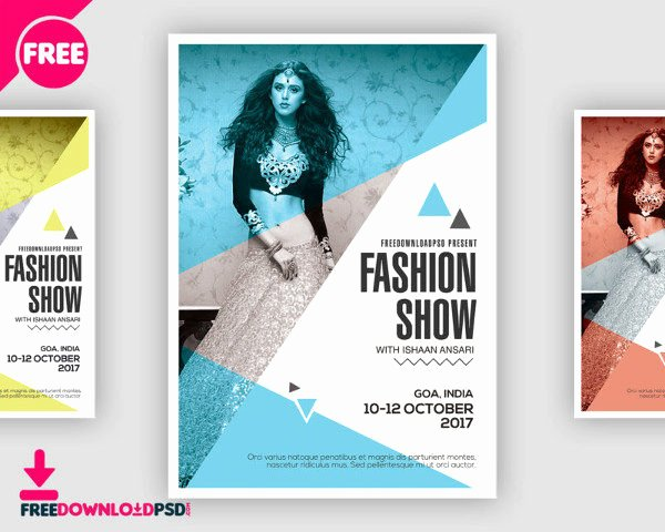 Fashion Show Flyers Template Free Luxury 31 Fashion Flyer Templates Free & Premium Download