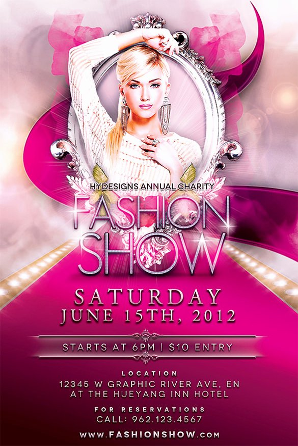 Fashion Show Flyers Template Free New 24 Fashion Flyer Psd Templates & Designs