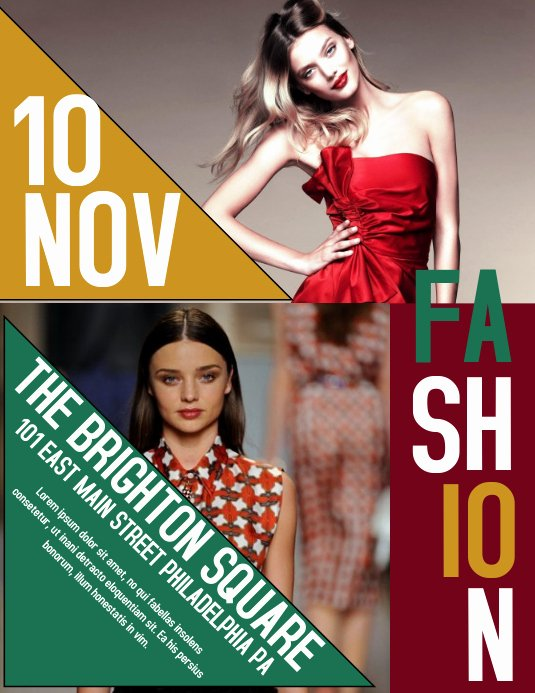 Fashion Show Flyers Template Free Unique Fashion Template