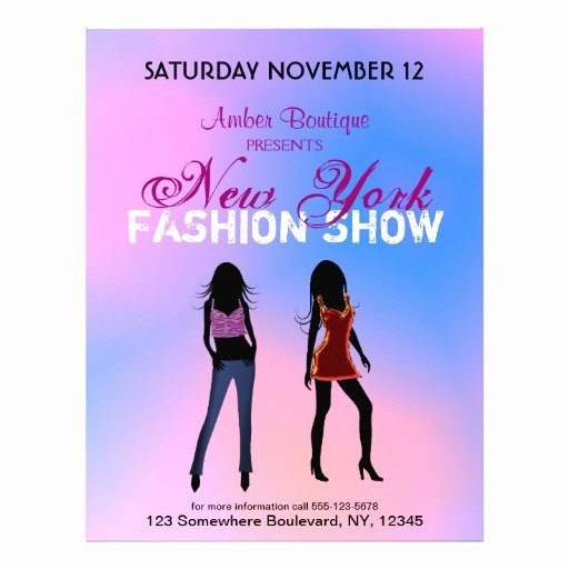 Fashion Show Flyers Templates Awesome Fashion Show Boutique Promotional Custom Flyers