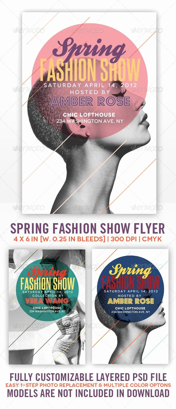 Fashion Show Flyers Templates Elegant Spring Fashion Show Flyer