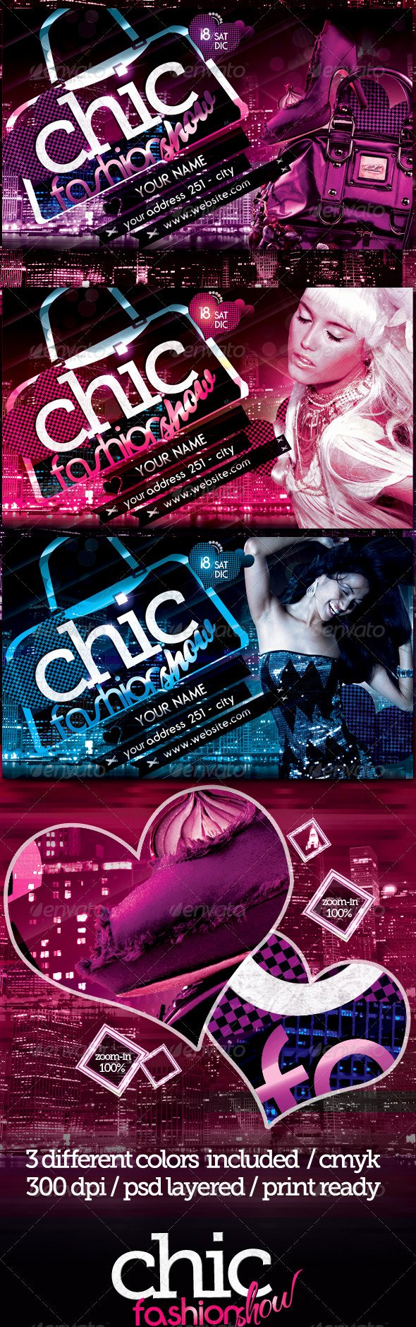 Fashion Show Flyers Templates Fresh Chic Fashion Show Flyer Template by touringxx