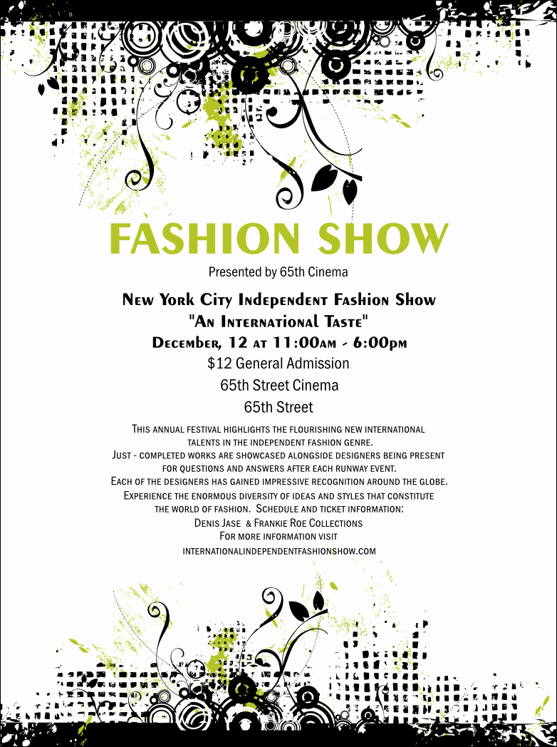 Fashion Show Flyers Templates Lovely Fashion Show Flyer