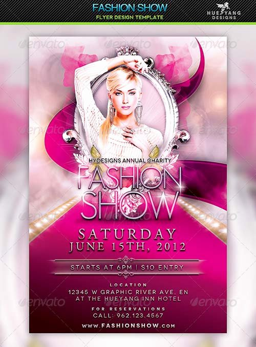 Fashion Show Flyers Templates Luxury Graphicriver Fashion Show Flyer Template