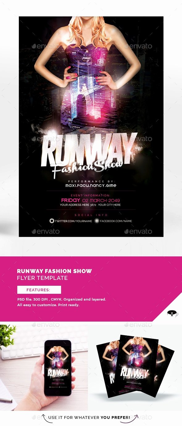 Fashion Show Flyers Templates Luxury Runway Fashion Show Flyer Template by touringxx