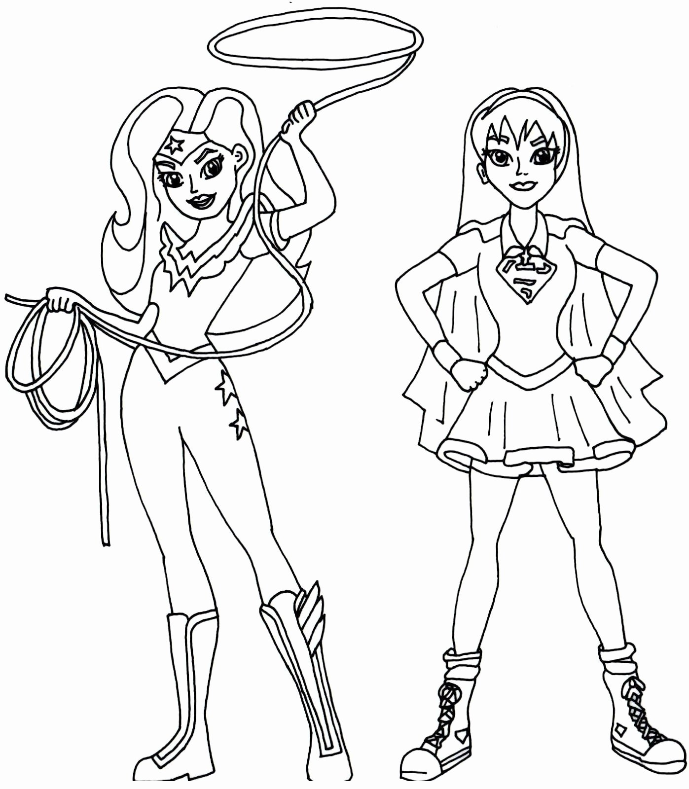 Female Superhero Coloring Pages Lovely Free Printable Super Hero High Coloring Page for Wonder Woman and Supergirl