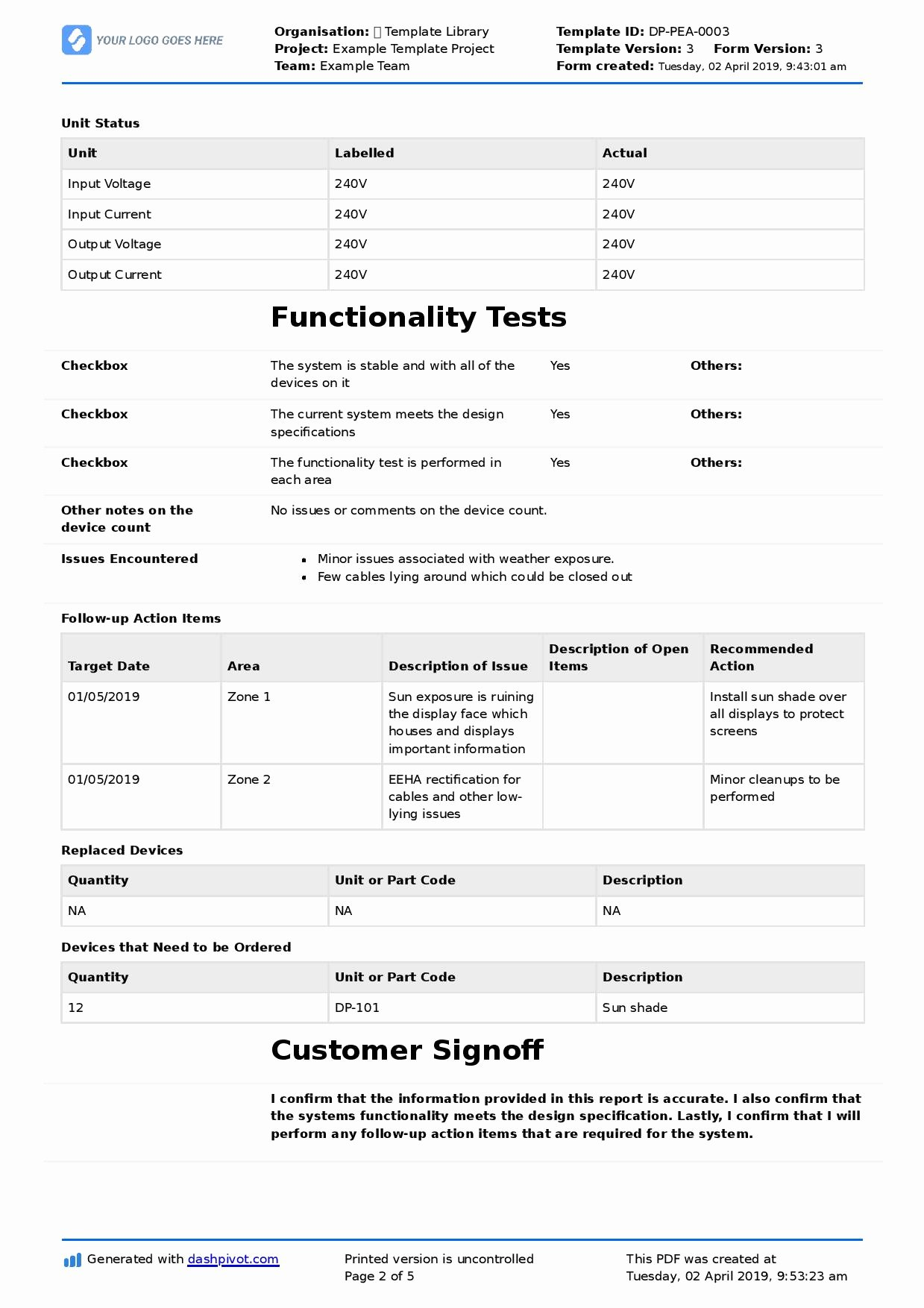 Field Service Report Template Beautiful Field Service Report Template Better format Than Word Excel Pdf